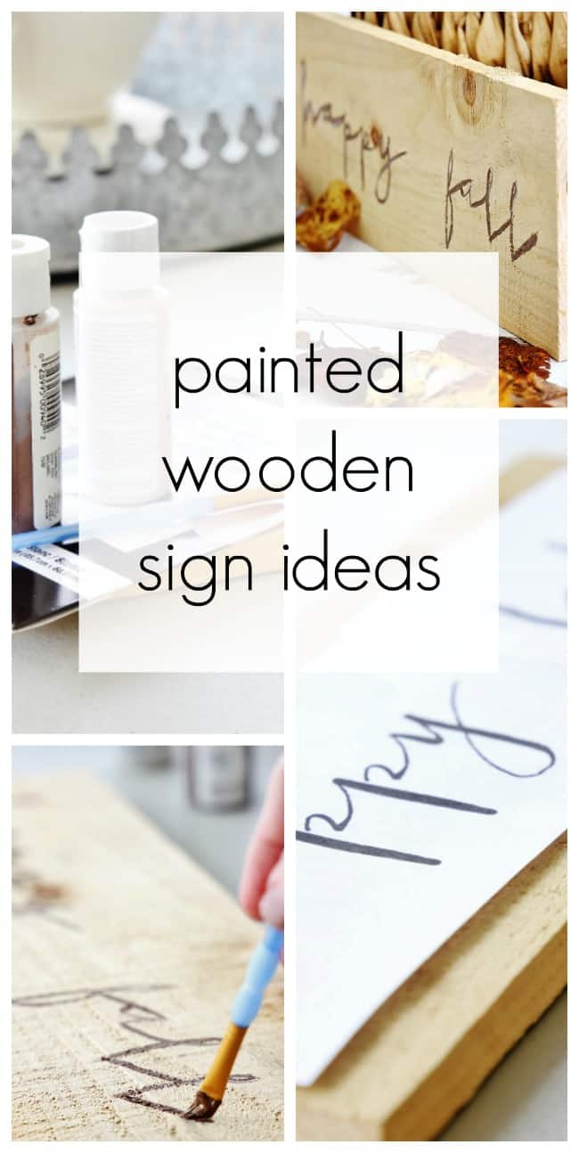 how to make a painted wooden sign