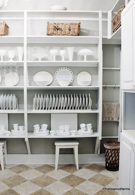 The updated butler's pantry