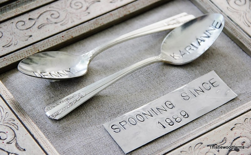 linen and stamped silver