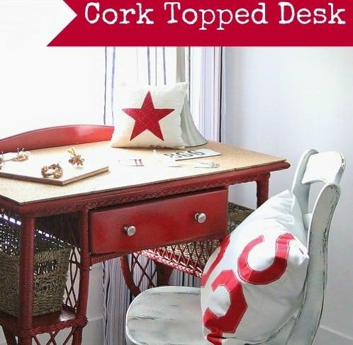 Cork Topped Desk