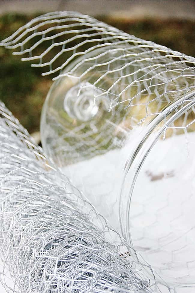 chicken wire cloche create