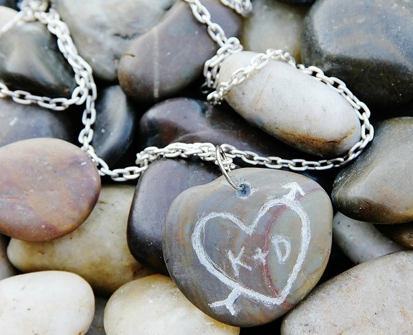 Carved Rock Necklace