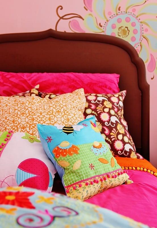 Yellow Pink Orange Pillow