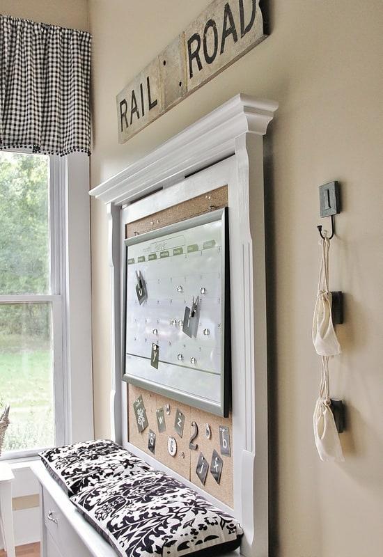 laundry room cork board