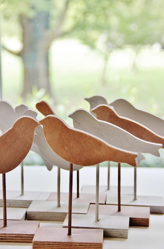 wooden birds