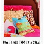 How To Add Trim To a Sheet Thistlewood Farm