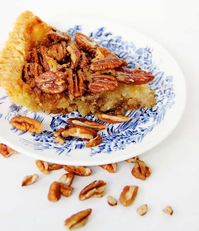 A slice of pecan pie is an amazing dessert