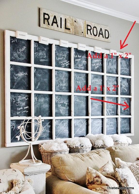 Frame For Chalkboard Calendar