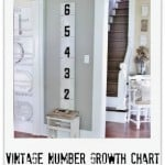 Vintage Number Growth Chart Thistlewood Farm