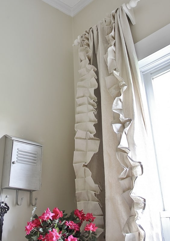 These curtains look great in the space