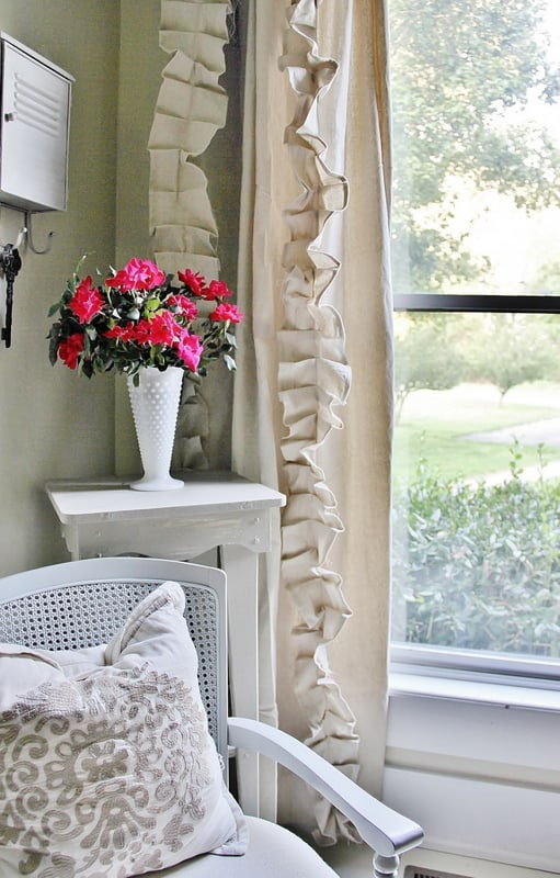 These gorgeous drop cloth curtains are surprisingly simple