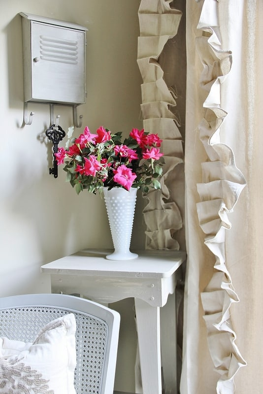 drop cloth ruffled curtains