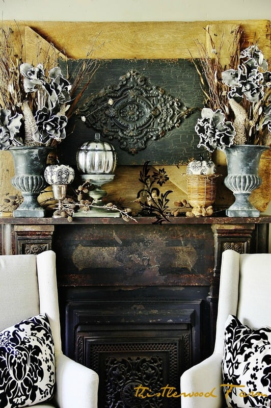This festive mantel is fun and a great accent