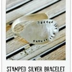 silver stamped spoon bracelet Thistlewood Farm