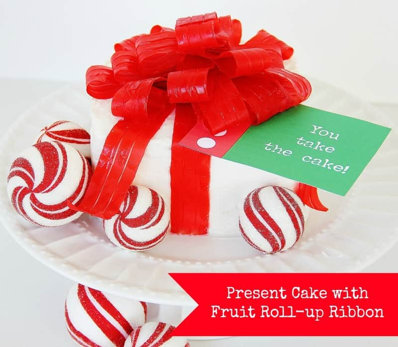 Fruit Roll-Up Ribbon Cake