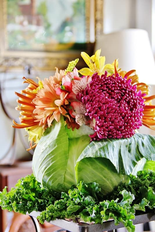 Cabbage Vase flower arrangement