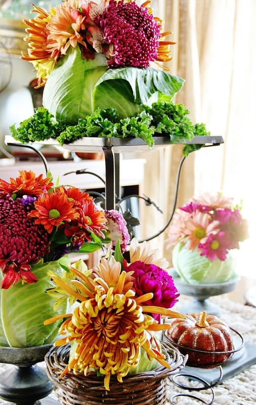 Gorgeous cabbage flower arrangement