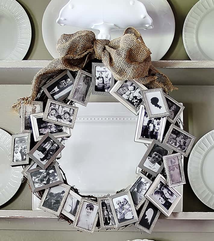 Family picture wreath – Mother's day gift idea