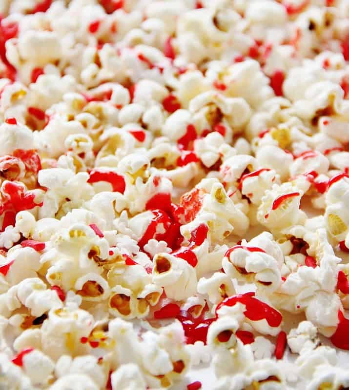 Drizzled Red Hot Popcorn