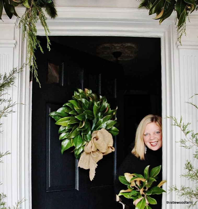 What does your front door say about you thistlewood farm - Admirable christmas wreath decorating ideas to welcome the december ...