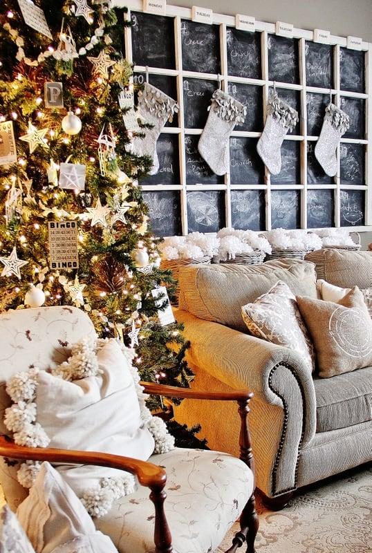 Family Room Christmas Chalkboard