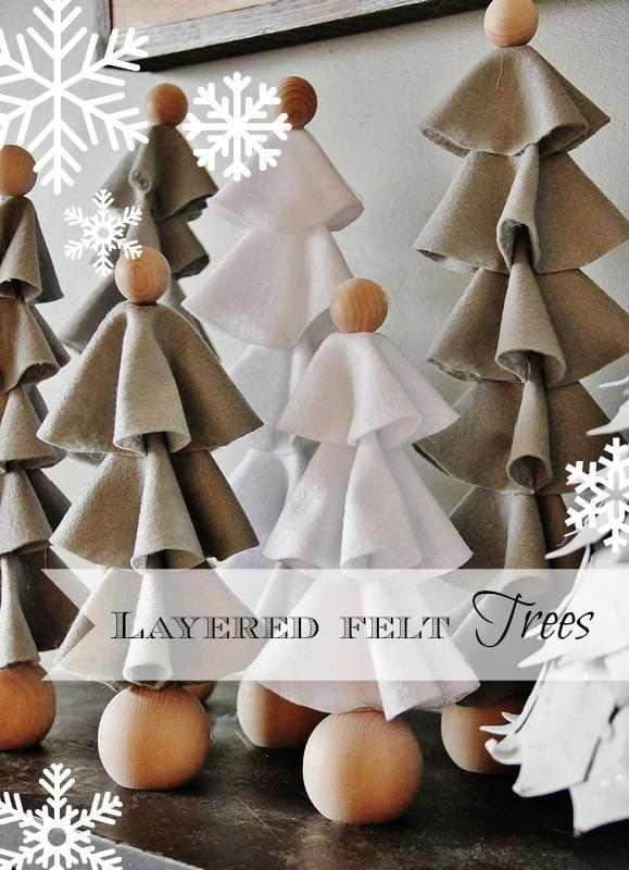 Layered Felt Christmas Tree