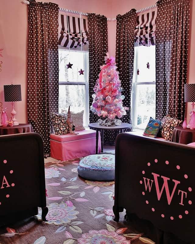 Pink and Brown Christmas