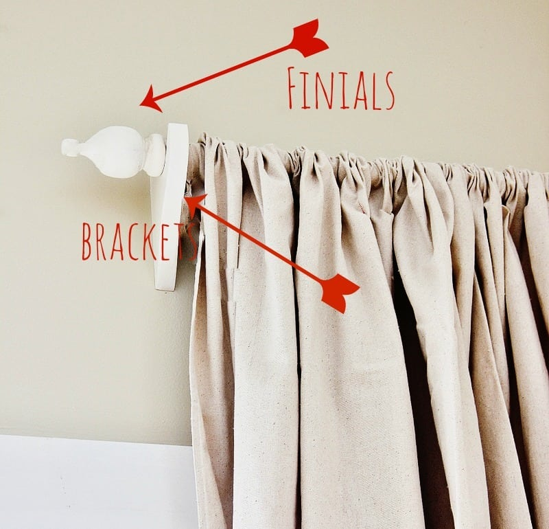 Curtain Finial and Bracket