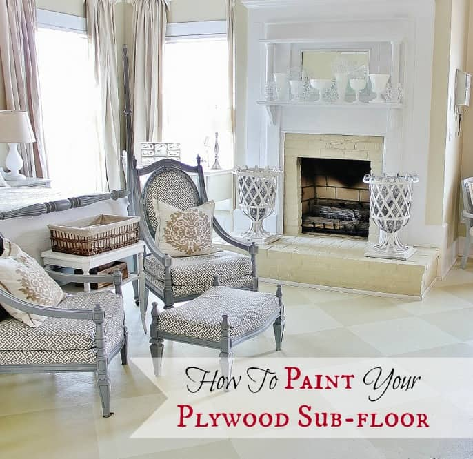 Floor Tile Paint Yes You Can Paint Floor Tiles Here S: Painted Plywood Sub-Floor