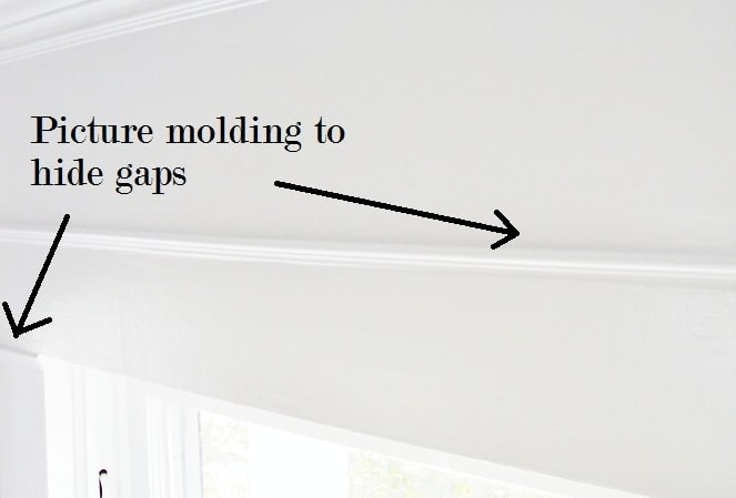Picture Molding to Hide Gaps