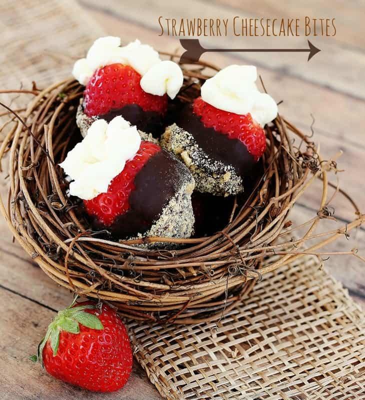 Strawberry Cheesecake Bites - Thistlewood Farm