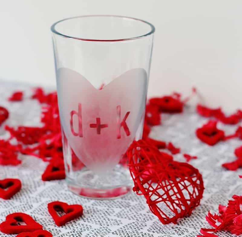 Valentines Day Glass Project