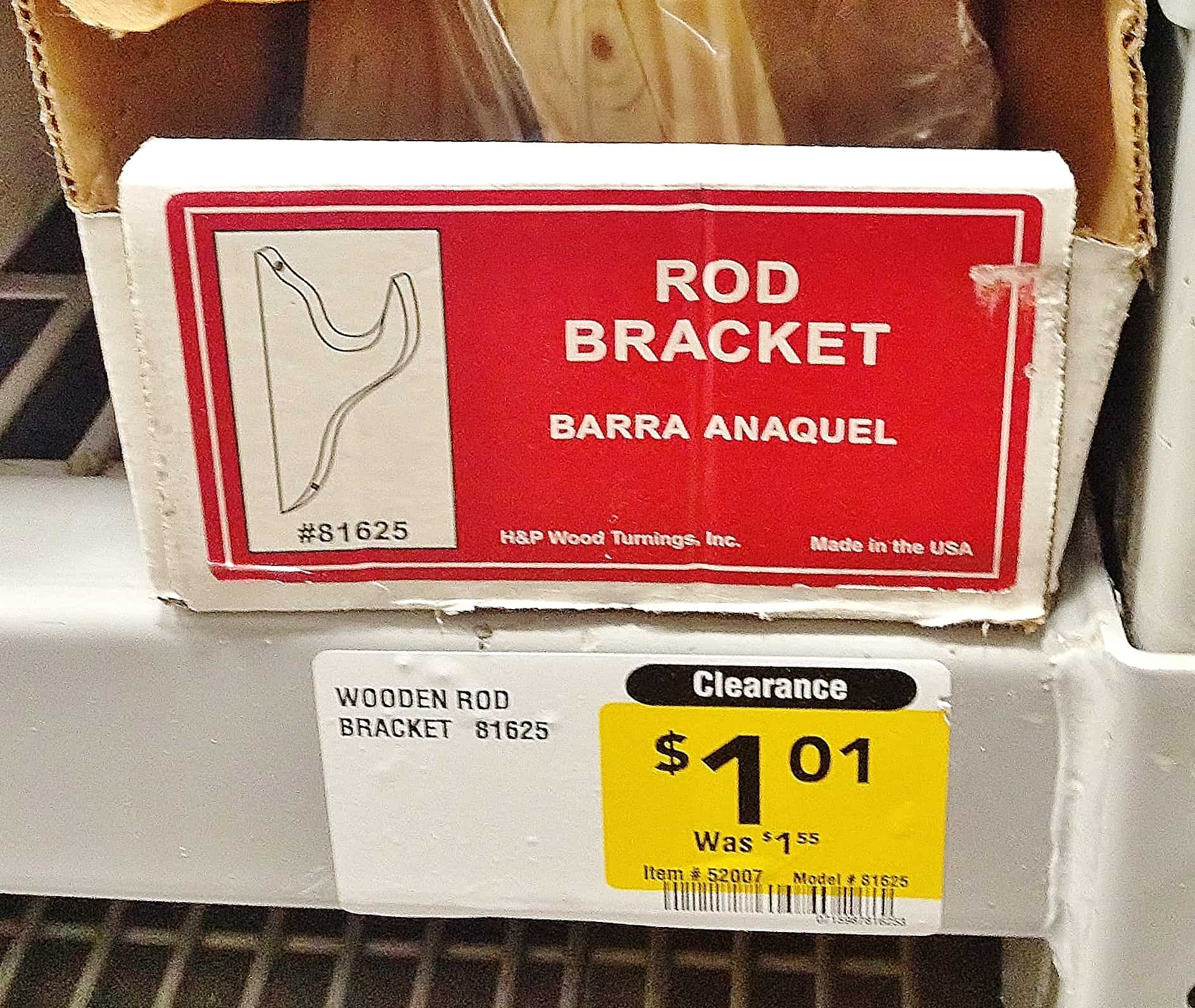 Rod Bracket for curtain rod project