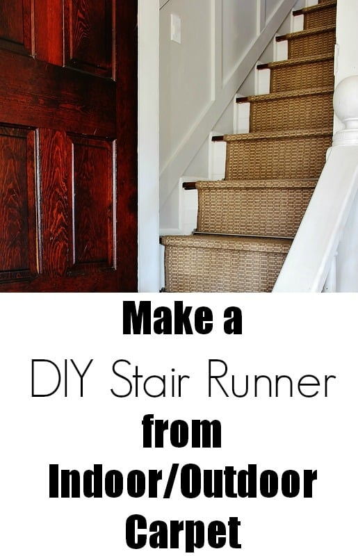 How to make an indoor/outdoor stair runner from outdoor carpet