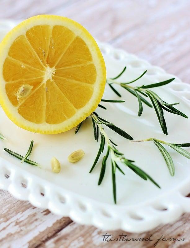 Lemon and rosemary