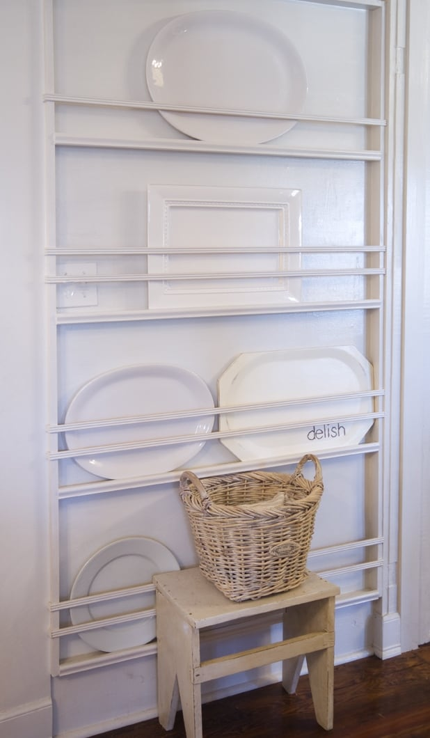 Plate Rack Before & Built-in Plate Rack - Thistlewood Farm