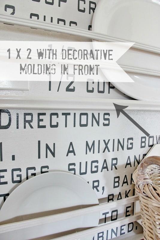 Add decorative moldings