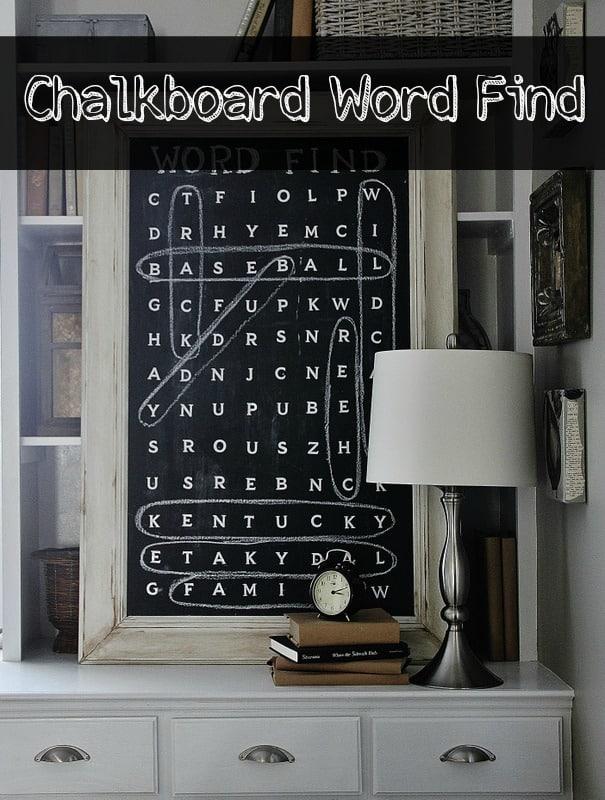 Chalkboard Word Find - Thistlewood Farm