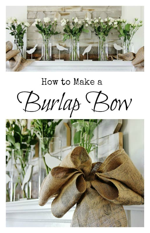 how to make a burlap bow thistlewood farm
