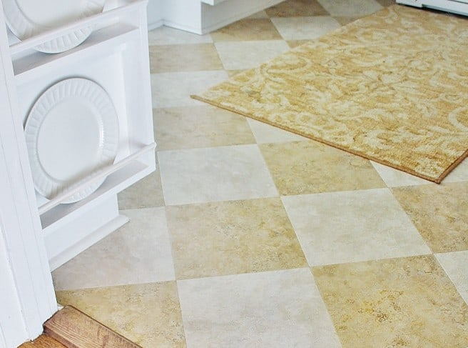 The Butlers Pantry:  Flooring For Under $100