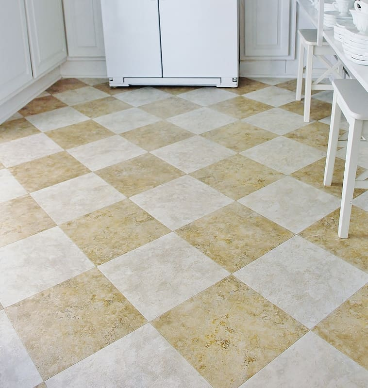 The butlers pantry flooring for under 100 thistlewood farm for Stick on linoleum floor