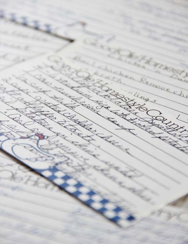 The best recipes are passed down from older generations and handwritten on paper.