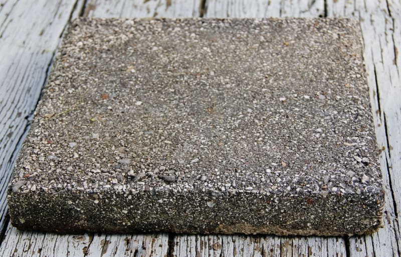 Start your stenciled concrete paver project with a basic paver.