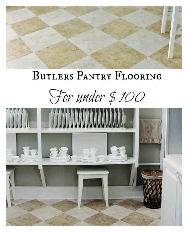Butler's Pantry Flooring for Under $100
