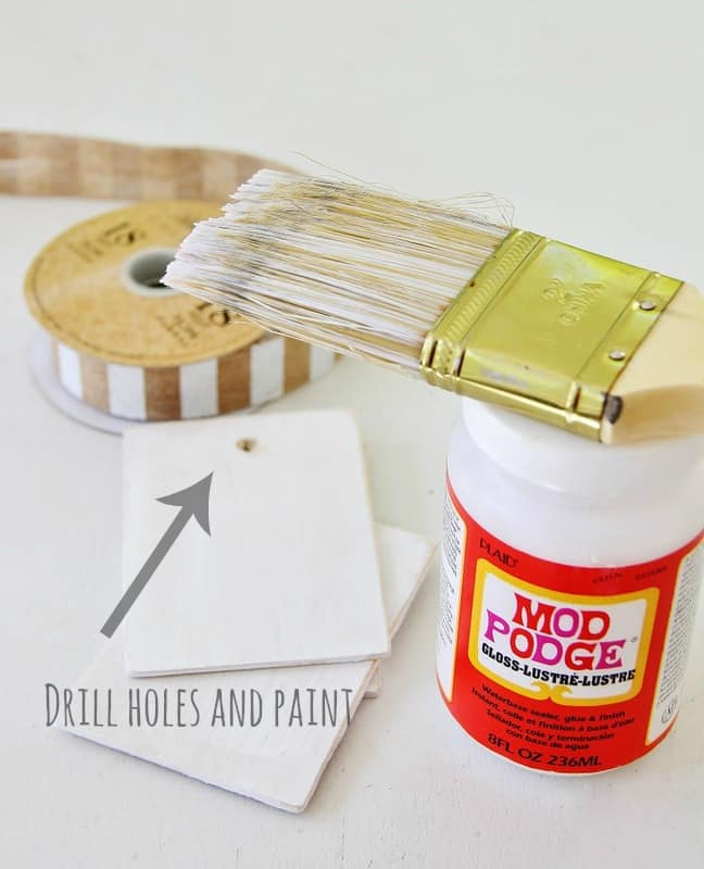 Drill holes and paint