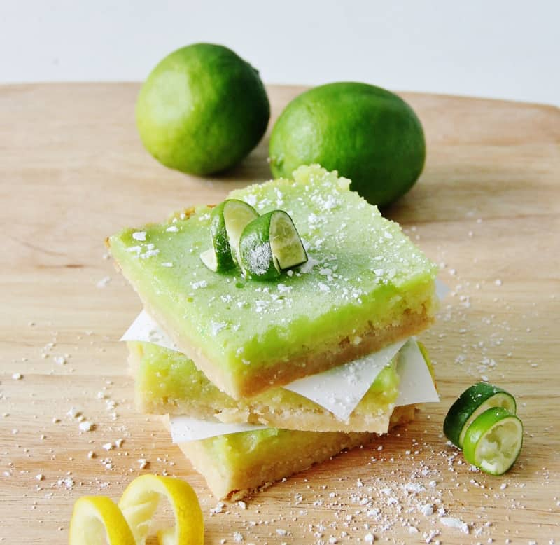 These lemon lime bars are so good!