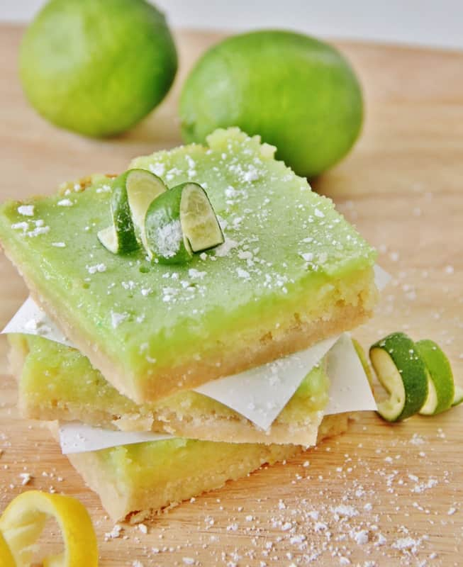 These lemon lime bars are easy to make and super tasty