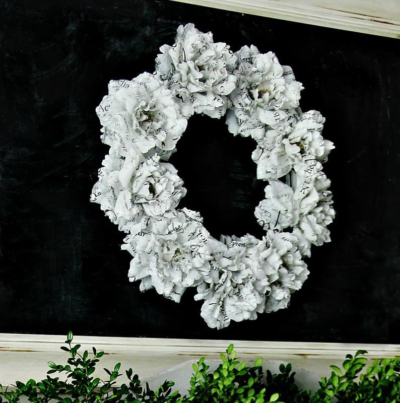 Book-page-wreath-project