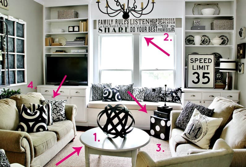 One Room Three Ways: Family Room Decorating Ideas