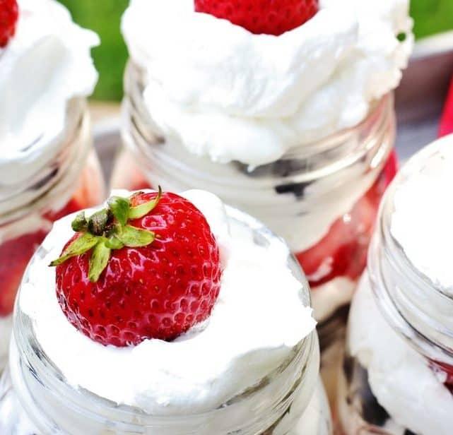 fourth of july dessert strawberry